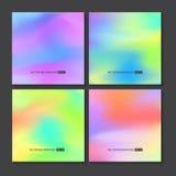 被设置的五颜六色的背景 传染媒介滤网模板 皇族释放例证