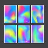 被设置的五颜六色的背景 传染媒介滤网模板 免版税库存照片