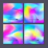 被设置的五颜六色的背景 传染媒介滤网模板 库存例证