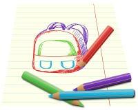 被设置的五颜六色的铅笔 图库摄影