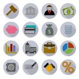 被设置的企业现代象 免版税图库摄影