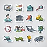 被设置的企业贴纸 免版税图库摄影