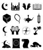 被设置的伊斯兰教的象 库存图片