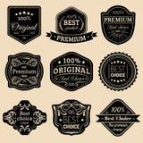 被设置的优质商标 最佳的挑选象征 质量徽章 使用为广告,烙记等 皇族释放例证