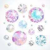 被设置的传染媒介宝石 免版税库存图片