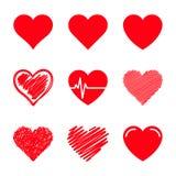 被设置的传染媒介心脏 库存照片