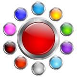 被设置的传染媒介按钮 图库摄影