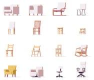 被设置的传染媒介椅子 向量例证