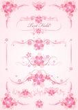被设置的传染媒介:花卉设计 免版税库存照片