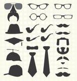 被设置的传染媒介:髭和其他时尚 免版税库存图片
