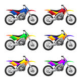 被设置的体育摩托车 库存图片