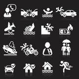 被设置的保险图标 免版税库存图片