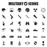 被设置的军事图标 库存照片