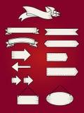 被设置的减速火箭的丝带横幅 装饰图表的美好的空白 库存照片