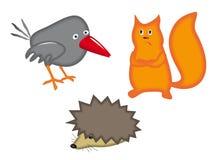 被设置的动物 免版税图库摄影