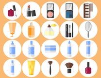被设置的化妆用品象 免版税库存图片
