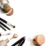被设置的化妆用品 免版税库存照片