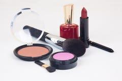 被设置的化妆用品 免版税图库摄影