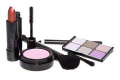 被设置的化妆用品 免版税库存图片
