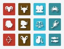 被设置的占星术标志 免版税库存照片