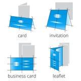 被设置的印刷店服务蓝色象 第2.部分 免版税库存图片