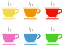 被设置的咖啡图标 向量例证