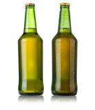 被设置的啤酒瓶 库存图片