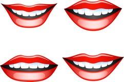被设置的嘴唇 免版税库存照片