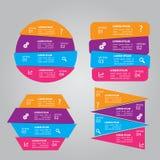 被设置的四张步信息图表 库存例证