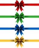 被设置的圣诞节丝带 免版税图库摄影