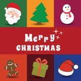 被设置的圣诞节图标 库存照片