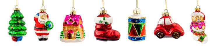 被设置的圣诞节装饰 库存图片