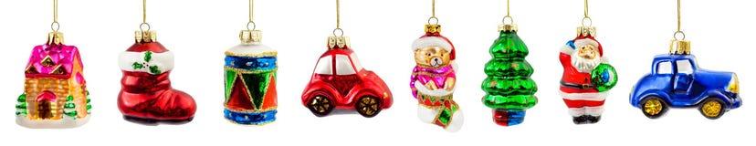 被设置的圣诞节装饰 免版税库存照片