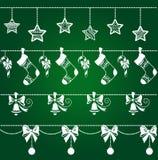 被设置的圣诞节装饰 免版税库存图片