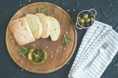 被设置的地中海快餐 图库摄影