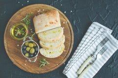被设置的地中海快餐 免版税库存图片