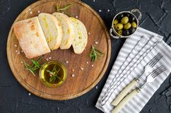 被设置的地中海快餐 免版税图库摄影