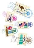 被设置的地标邮票 免版税库存照片