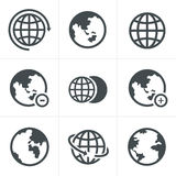 被设置的地球象 免版税库存图片