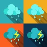 被设置的天气象-传染媒介 向量例证