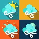 被设置的天气象-传染媒介 免版税库存照片