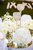 被设置的婚礼玻璃 免版税库存照片