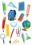 被设置的学校用品 库存照片