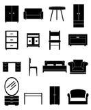 被设置的家具图标 免版税库存图片