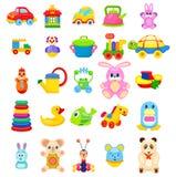 被设置的小孩大例证的玩具 免版税库存照片
