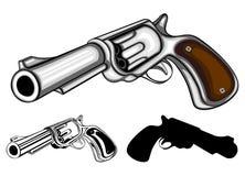 被设置的左轮手枪 图库摄影
