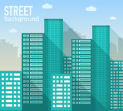 被设置的平的五颜六色的传染媒介sity大厦 图标 免版税库存图片
