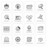 被设置的平的设计企业象 免版税库存图片