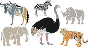 被设置的异乎寻常的动物 皇族释放例证