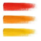 被设置的彩虹五颜六色的刷子冲程 皇族释放例证